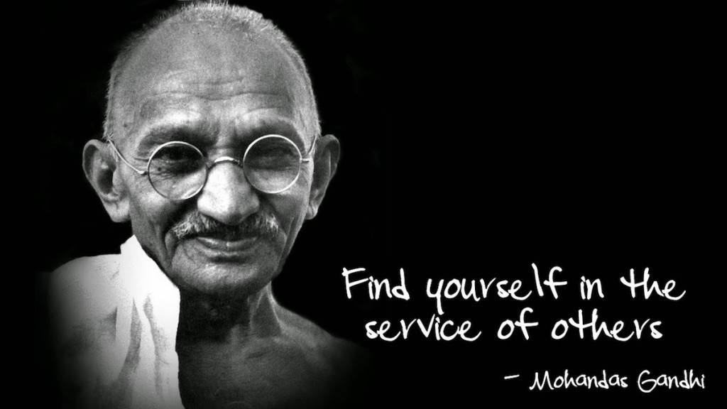 What is servant leadership ghandi help others